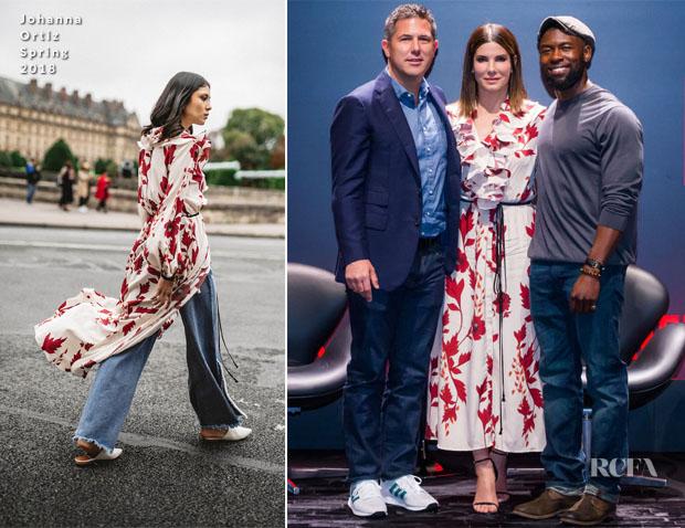Fashion Blogger Catherine Kallon feature Sandra Bullock In Akris & Johanna Ortiz - Netflix 'Bird Box' Comic-Con & Press Conference