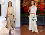 Fashion Blogger Catherine Kallon feature Zoe Saldana In Chloe - Tamara Mellon Palisades Village Opening Party
