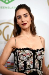 Fashion Blogger Catherine Kallon features Alison Brie In Brock Collection - 2019 Producers Guild Awards