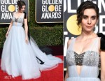 Fashion Blogger Catherine Kallon features Alison Brie In Vera Wang - 2019 Golden Globe Awards