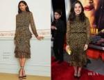 Fashion Blogger Catherine Kallon Features America Ferrera In Saloni - 'Miss Bala' LA Premiere