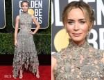 Fashion Blogger Catherine Kallon features Emily Blunt In Alexander McQueen - 2019 Golden Globe Awards