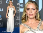 Fashion Blogger Catherine Kallon features Emily Blunt In Prada - 2019 Critics' Choice Awards