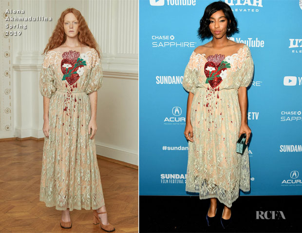 Fashion Blogger Catherine Kallon features Jessica Williams In Alena Akhmadullina - 'Corporate Animals' Sundance Film Festival Premiere