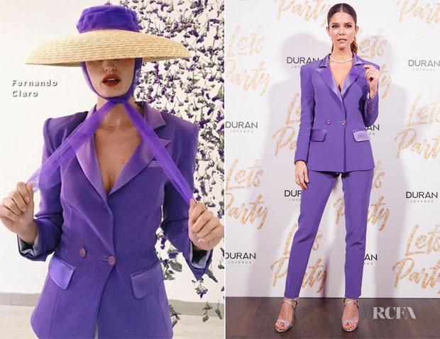 Fashion Blogger Catherine Kallon features Juana Acosta In Fernando Claro - Durán Joyeros Party