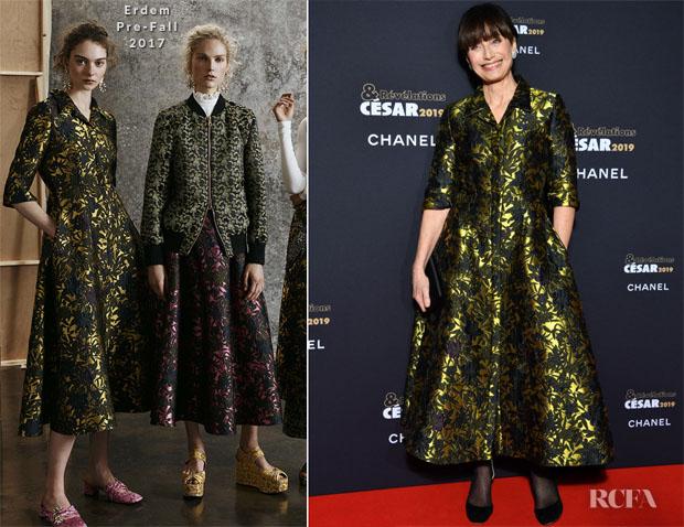 Fashion Blogger Catherine Kallon features Kristin Scott Thomas In Erdem - César Revelations 2019