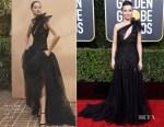 Fashion Blogger Catherine Kallon features Linda Cardellini In Monique Lhuillier - 2019 Golden Globe Awards