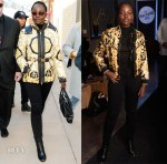 Fashion Blogger Catherine Kallon features Lupita Nyong'o's Versace Double at Sundance Film Festival