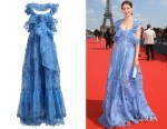 Michelle Monaghan's Valentino Ruffled Silk-Organza Gown