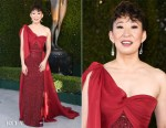 Fashion Blogger Catherine Kallon features Sandra Oh In Jenny Packham - 2019 SAG Awards