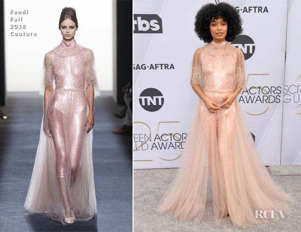 Fashion Blogger Catherine Kallon features Yara Shahidi In Fendi Couture - 2019 SAG Awards