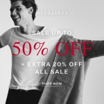 Get An Extra 20% Off The All Saints Sale