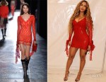 Fashion Blogger Catherine Kallon features Beyonce Knowles In Christopher Kane - Valentine's Day