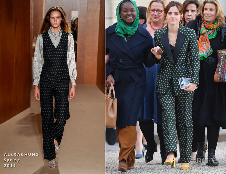 Fashion Blogger Catherine Kallon features Emma Watson In ALEXACHUNG - G7 Equality Meeting