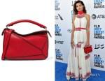 Helena Howard's Loewe Puzzle Mini Textured-Leather Bag