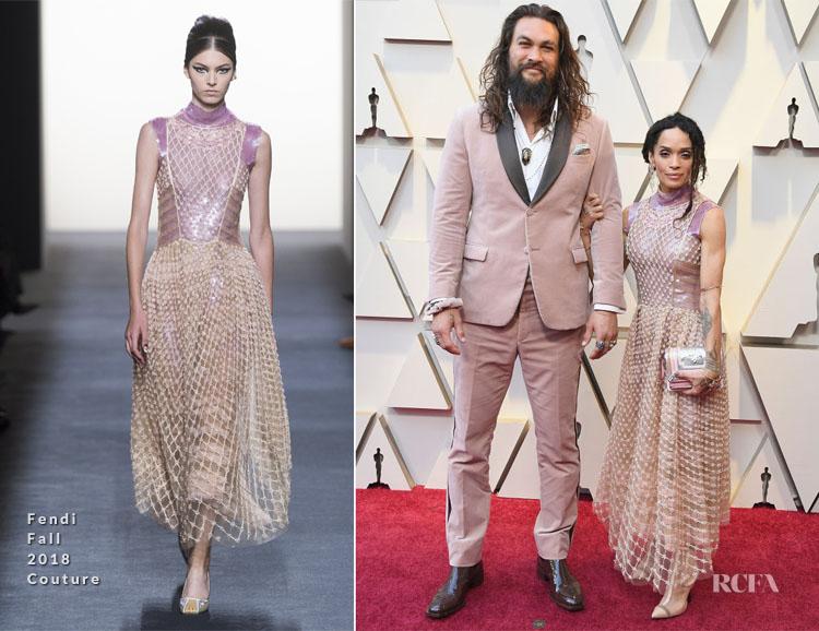 Lisa Bonet In Fendi Couture & Jason Momoa In Fendi Mens - 2019 Oscars