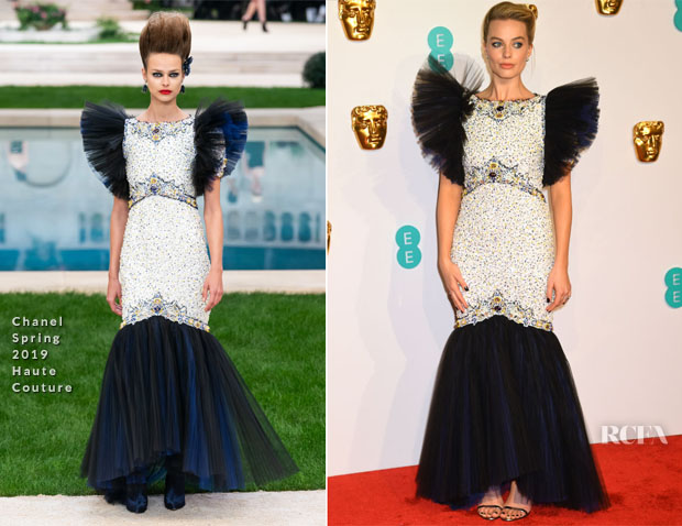 Fashion Blogger Catherine Kallon features Margot Robbie In Chanel Haute Couture - 2019 BAFTAs