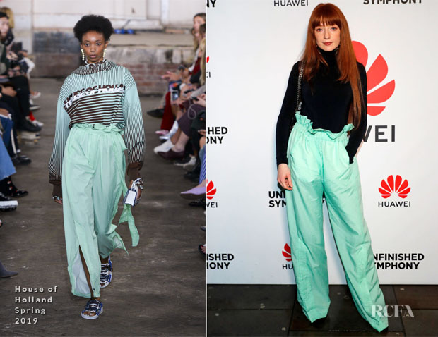 Fashion Blogger Catherine Kallon features Nicola Roberts In House of Holland - Huawei's, Unfinished Symphony