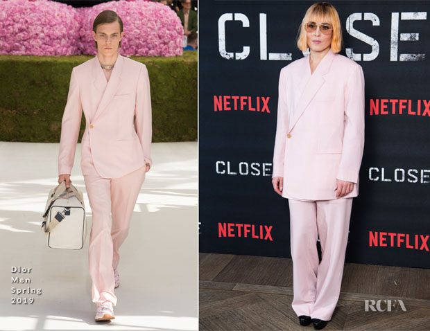 Fashion Blogger Catherine Kallon features Noomi Rapace In Dior Men - 'CLOSE' London Screening