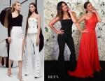 Fashion Blogger Catherine Kallon Features Priyanka Chopra In Cushnie - Madame Tussads Wax Figure Reveal