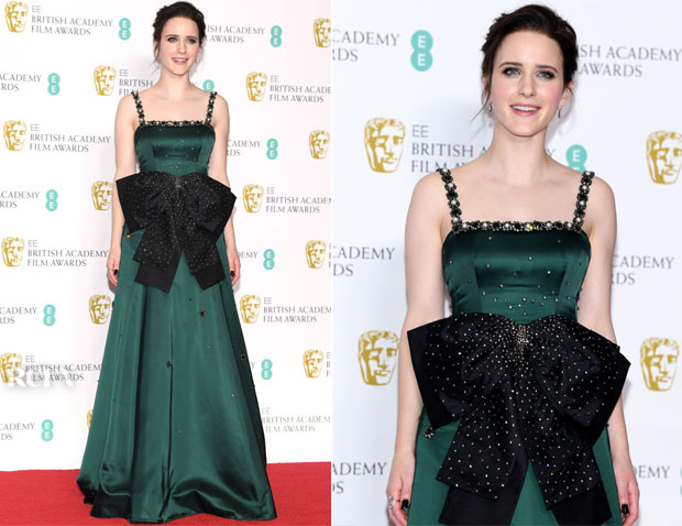 Fashion Blogger Catherine Kallon features Rachel Brosnahan In Erdem - 2019 BAFTAs