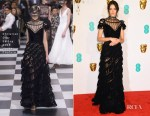 Fashion Blogger Catherine Kallon features Stacy Martin In Christian Dior Haute Couture - 2019 BAFTAs
