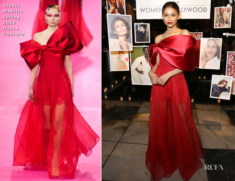 Fashion Blogger Catherine Kallon features Zendaya Coleman In Alexis Mabille Haute Couture - Vanity Fair and Lancôme Toast Women In Hollywood