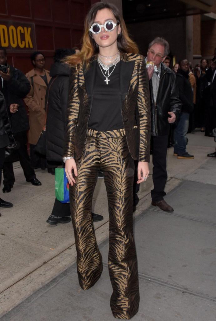 Bella Thorne In Prabal Gurung - New York City