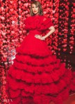 Iman's Red Radiance At The 'Love Ball Arabia'