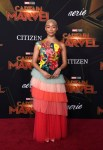 Tati Gabrielle In Elisabetta Franchi - 'Captain Marvel' LA Premiere