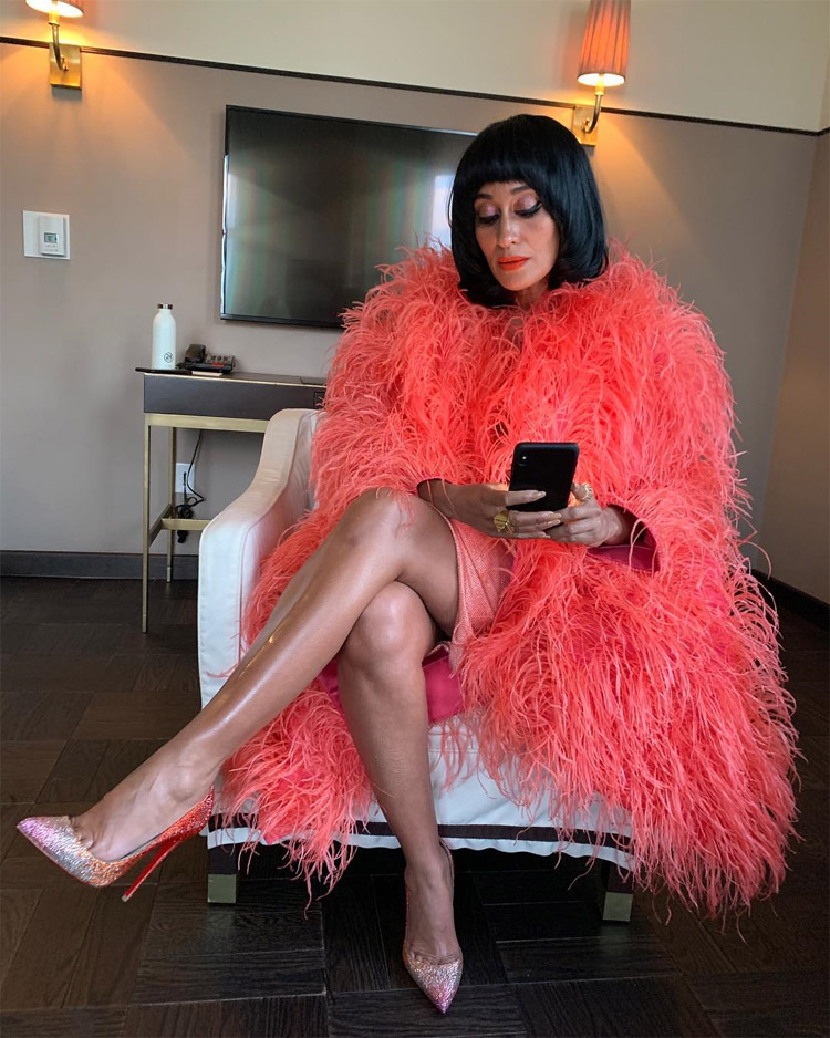 Tracee Ellis Ross Celebrates Diana Ross' 75th Birthday in Marc Jacobs