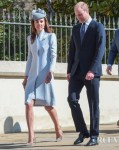 Catherine, Duchess of Cambridge Recycles Alexander McQueen For Easter Sunday Service
