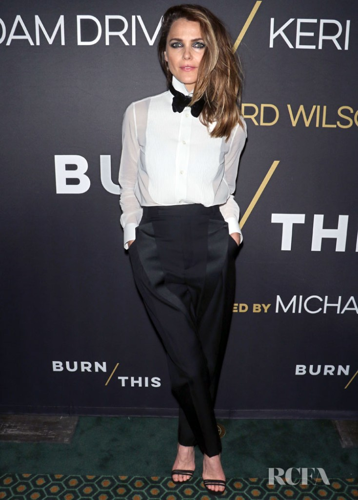 Keri Russell Borrows From The Boys For 'Burn This' Opening Night In Tom Ford & Celine