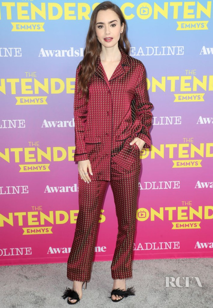 Lily Collins In Etro - 'The Contenders Emmys' for 'Les Misérables.'