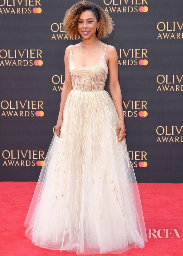 Sophie Okonedo in Oscar de la Renta - 2019 Laurence Olivier Awards
