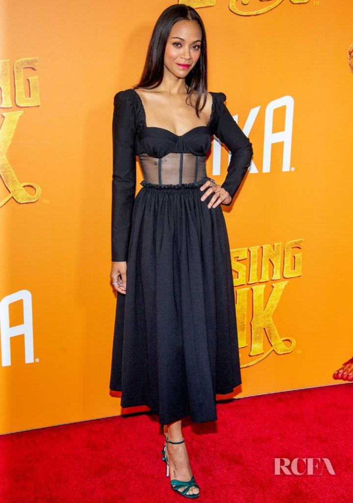 Zoe Saldana  In Rosie Assoulin - 'Missing Link' New York Premiere