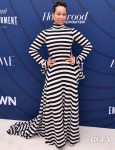 Alicia Keys Bold Stripes For The Hollywood Reporter's Empowerment In Entertainment Event