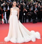 Camila Morrone In Miu Miu -  'Once Upon a Time In Hollywood' Cannes Film Festival Premiere