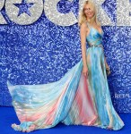 Claudia Schiffer Rocks All The Colours Of The Rainbow For The 'Rocketman' London Premiere