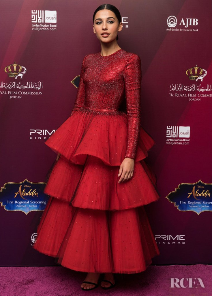 Naomi Scott In Armani Prive - 'Aladdin' In Jordan
