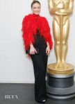 Olivia Wilde's Bold Red Feather Look For The 'Booksmart' New York Screening
