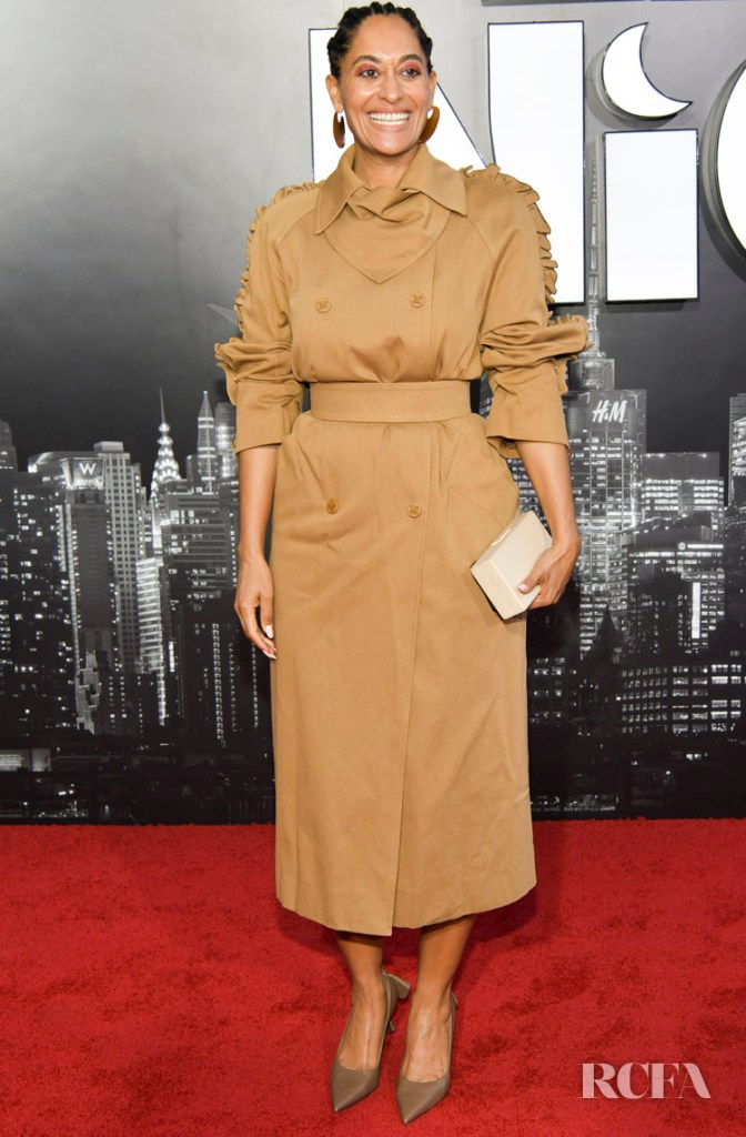 Tracee Ellis Ross Camel Coat For The 'Late Night' LA Premiere