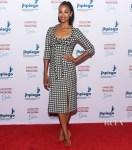 Zoe Saldana Highlights Houndstooth For Jhpiego's Los Angeles Gala