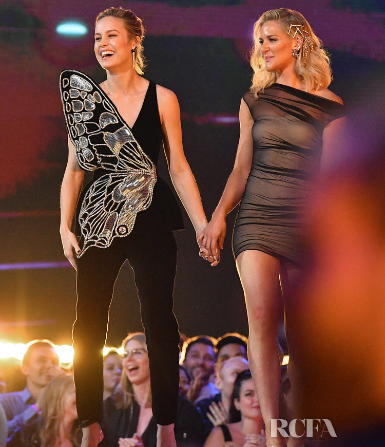 Brie Larson's MTV Movie And TV Awards Full David Koma Look