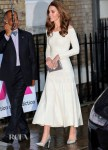 Catherine, Duchess Of Cambridge Recycles Her Barbara Casasola Dress For Addiction Awareness Week
