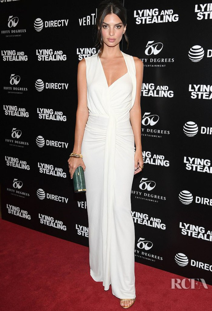 Emily Ratajkowski in Narciso Rodriguez -  'Lying And Stealing' New York Screening