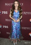 Lily Collins Sheer Floral Layered Frock For 'Les Misérables' LA Photocall