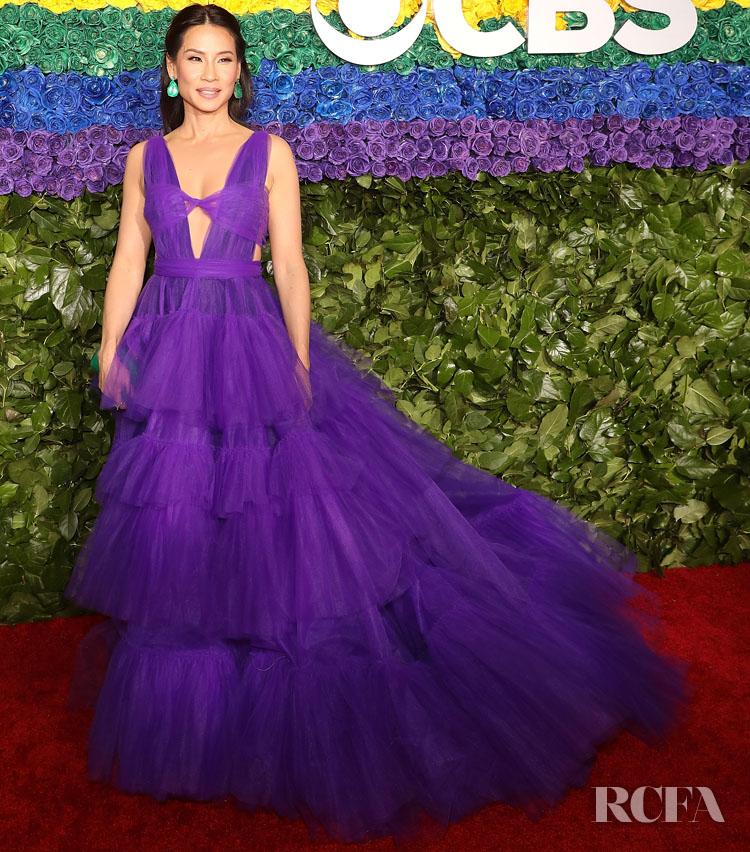 Lucy Liu In Christian Siriano - 2019 Tony Awards