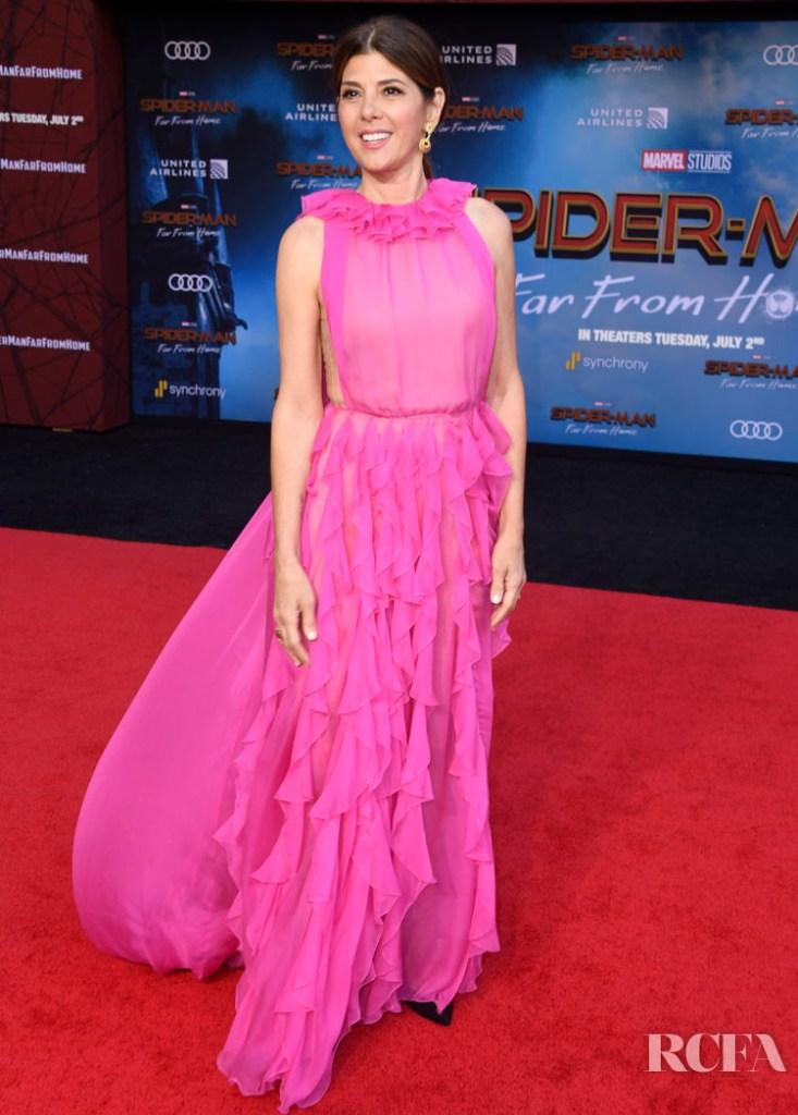 Marisa Tomei In Valentino 'Spider-Man Far From Home' LA Premiere