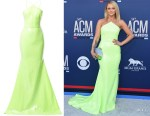 Miranda Lambert's Alex Perry Neon Sequin Gown